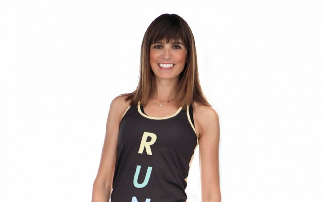 Las mallas y la camiseta de mujeres que corren